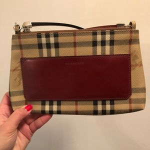 Burberry Haymarket Check Pochette mini purse